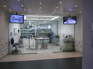 Eén van de operatiekamers in het dierenziekenhuis