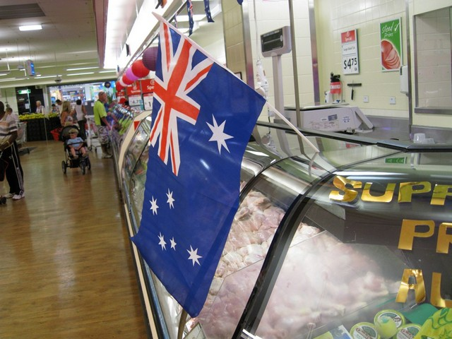 De Australische vlag is overal te vinden vandaag!