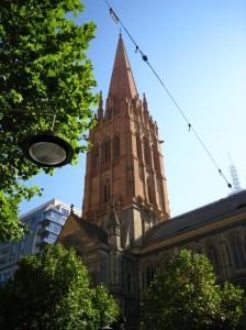 Toren van de St Michaelskerk in Melbourne