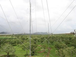 De antennes van HCJB in Kununurra