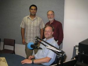Santiago, Peter & Brent (zittend)