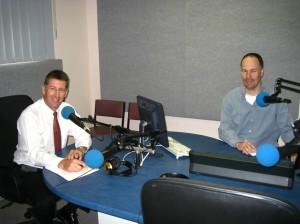 Brett McLeod en Gerard in de studio