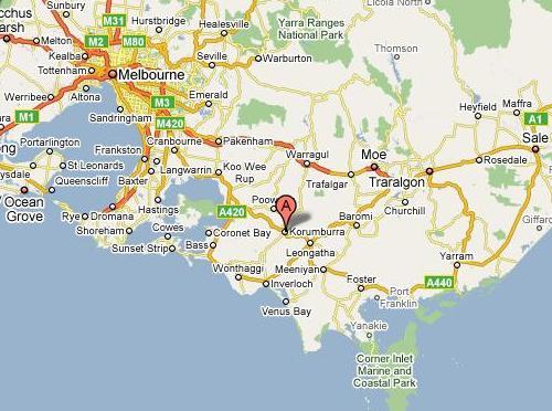 Epicentrum van de aardbeving (Bron: Google Maps)