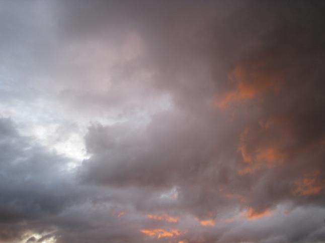 De lucht boven Melbourne gisteravond