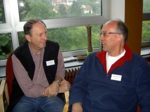 Dennis Adams en Andre Wijngaarden in gesprek