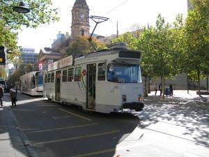 De binnenstad van Melbourne