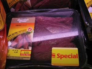 Kangoeroe in de supermarkt