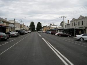 Een Aussie straatbeeld van Port Fairy